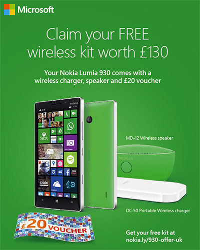 Nokia Lumia 930 comes with extra accessories in the UK ...