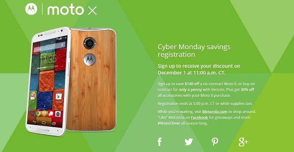 Cyber Monday $140 discount on carrier unlocked Moto X - GSMArena com