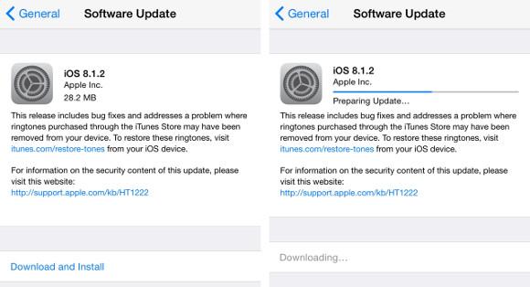 Apple releases iOS 8 1 2, addresses ringtone issues