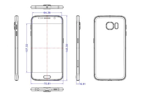 Samsung Galaxy S6 schematics show a protruding camera - GSMArena.com