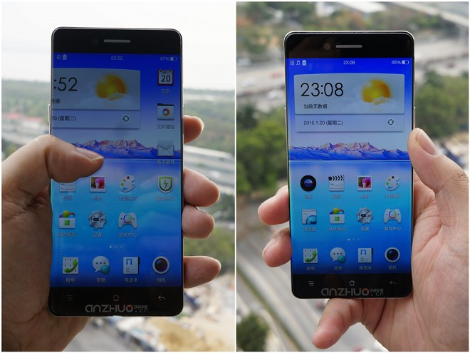 Photos show Oppo bezelless display in the flesh
