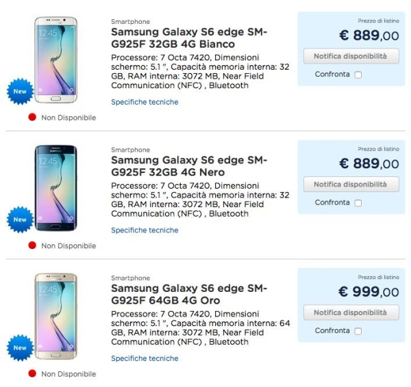 Samsung Galaxy S6 Price List