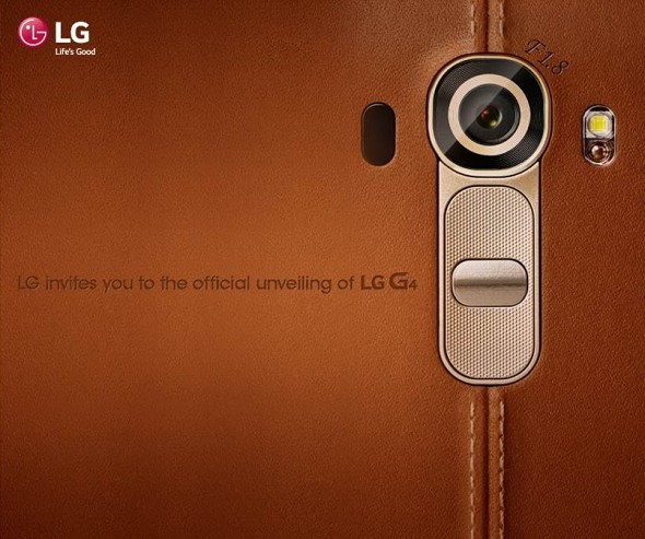 LG G4 event invitation confirms f/1 8 lens, LED flash, laser focus
