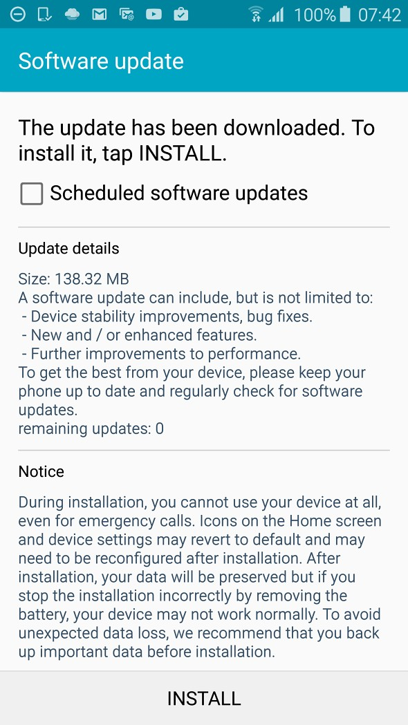 Samsung Galaxy S6 is receiving a new firmware update - GSMArena com news