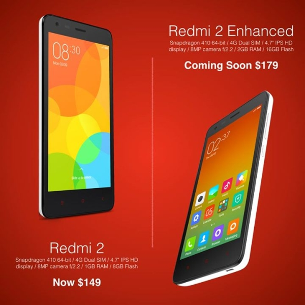 Xiaomi Drops Redmi 2 Price Launches Enhanced Version