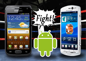 Galaxy W vs. Xperia Neo V: Vice Wersa