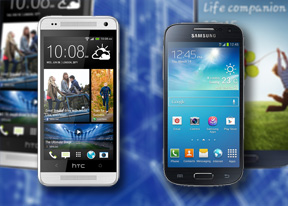 HTC One mini vs Samsung Galaxy S4 mini: Young guns
