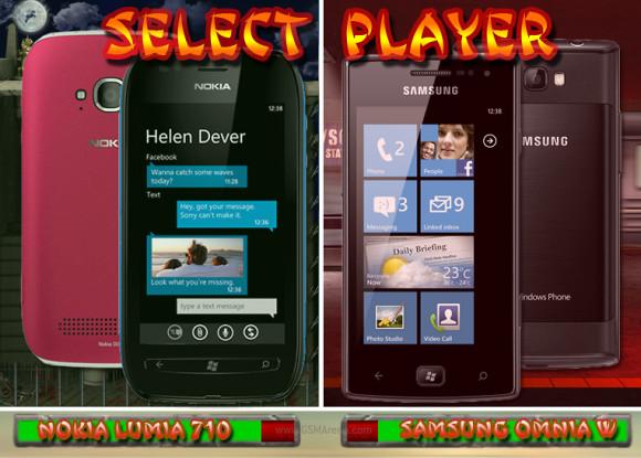 Nokia Lumia 710 vs. Samsung I8350 Omnia W