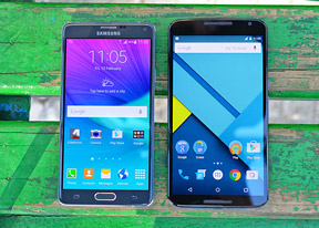 Nexus 6 vs. Galaxy Note 4: A game of Battleships