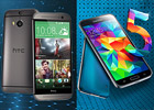 Samsung Galaxy S5 vs. HTC One (M8): Leather and steel