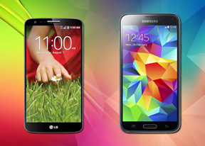 Samsung Galaxy S5 vs LG G2: Life in the fast lane