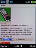 Screenshots of Sony Ericsson C702